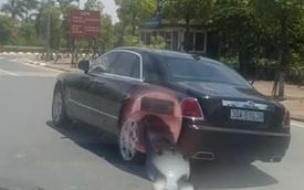 Chiếc Rolls-Royce Ghost vẫn bon bon trên đường với tình trạng khiến nhiều người ngạc nhiên