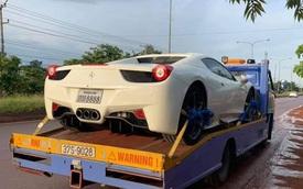 Ferrari 458 Spider biển số tứ quý Lào bất ngờ xuất hiện tại thành phố Vinh