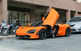 Đàm Thu Trang - vợ sắp cưới của doanh nhân Nguyễn Quốc Cường tự tin cầm lái siêu xe McLaren 720S