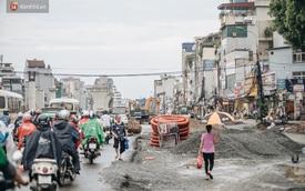 Ảnh: Đại công trường giữa đường Trường Chinh khiến người dân Thủ đô khốn khổ nhiều năm qua