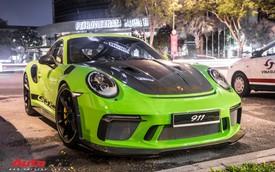 Porsche 911 GT3 RS Lizard Green độc nhất Việt Nam lần đầu ra phố Sài Gòn, thêm nhiều chi tiết độ TechArt Carbon khủng