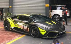 Lamborghini Huracan LP610-4 của dân chơi Nam Định lên lớp decal đậm chất xe đua