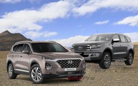 Ford Everest và Hyundai Santa Fe - Hai thế lực mới đe dọa ngôi vua doanh số của Toyota Fortuner tại Việt Nam