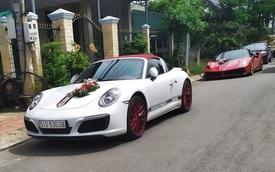 Siêu xe, xe thể thao và cặp đôi xe sang tham gia đám cưới của một đại gia Long An
