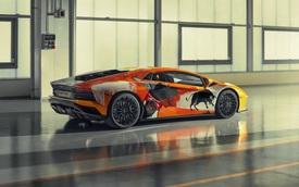 Lamborghini tẩy trắng Aventador S rồi để nghệ sỹ 19 tuổi tự phối màu và cái kết đầy bất ngờ
