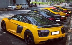 Dân chơi mang dàn Audi R8 đủ màu sắc hội ngộ tại Sài Gòn, chiếc nào cũng có tiểu sử đặc biệt