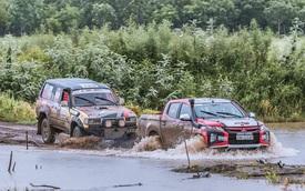 Lần đầu ra biển lớn, Racing Aka đạt thành thích cao trong giải đua xe địa hình châu Á