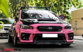 Hàng hiếm Subaru WRX STi màu hường độ thân rộng độc nhất Việt Nam, nội thất có một chi tiết gây tò mò