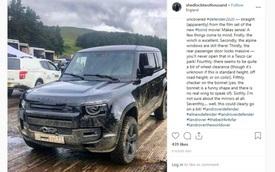 Land Rover Defender mới lộ diện trần trụi trên phim trường phim 007 mới