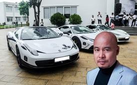 Ông chủ cà phê Trung Nguyên đưa 1/3 bộ sưu tập Ferrari với toàn hàng độc tham dự khai trương showroom chính hãng