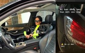 "Bị đâm vỡ đèn hậu Mercedes-Benz, Hoa hậu H'hen niê vẫn vui vẻ: ""Bị hun một cái nhẹ"""