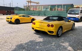 Cặp 'bò già' Lamborghini Gallardo và 'ngựa già' Ferrari F360 Spider hàng hiếm tại Việt Nam bất ngờ cùng Nam tiến