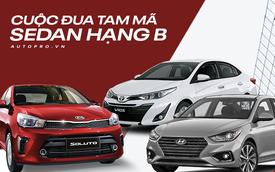 So sánh Kia Soluto, Hyundai Accent và Toyota Vios - Cuộc đua tam mã trên thị trường ô tô Việt Nam