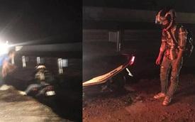 Thanh niên lao xe máy xuống cống giữa đêm không ai cứu, hành động của tài xế xe tải khiến tất cả cảm phục