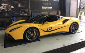 Ferrari 488 màu vàng Giallo Modena độc nhất Hà Nội xuất hiện trong diện mạo khác lạ