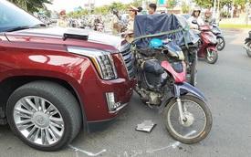 Va chạm với 'khủng long' Cadillac Escalade, lái xe kéo ẩu đả với tài xế giữa phố Sài Gòn