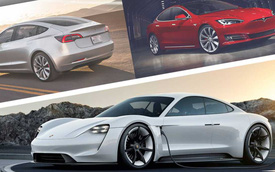 Porsche Taycan vs Tesla Model S/Model 3: Chênh lệch đáng kinh ngạc