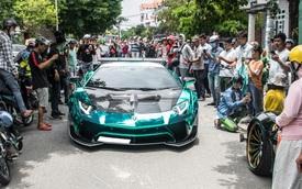 Hàng chục siêu xe và xe thể thao độ của đại gia Sài Gòn đổ bộ Bình Dương thu hút sự chú ý của người dân