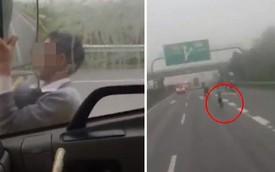 """Hành động của người đàn ông khiến tài xế xe tải giận """"tím mặt"""", hét khản tiếng: Xuống xe!"""