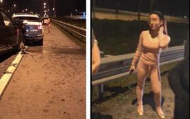 Vụ 2 xe Range Rover va chạm trên cao tốc Hà Nội - Hải Phòng: Trang phục của người phụ nữ bỗng gây chú ý