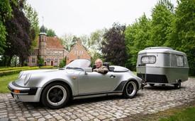 """Chuyện lạ: Độ xế Porsche cổ 30 năm tuổi để gắn thêm """"nhà mini"""" đằng sau"""