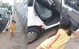 Cô bé nô đùa bên đường và câu nói vọng ra từ taxi của tài xế khiến người đi đường sững lại