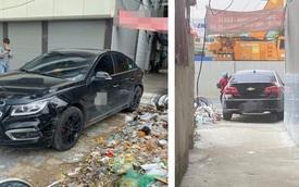 Đỗ ô tô ở vị trí quá hiểm, người chủ xe khiến cả ngõ xôn xao, tức tốc đi tìm