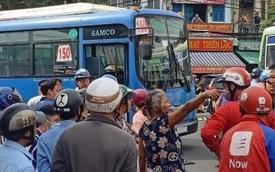 Va chạm giao thông, tài xế xe buýt dùng hung khí đâm bị thương tài xế GrabBike ở Sài Gòn