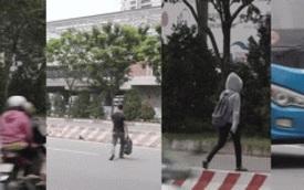 Sinh viên Sài Gòn liều mình trèo qua dải phân cách sang đường tại điểm đen tử thần trên xa lộ Hà Nội