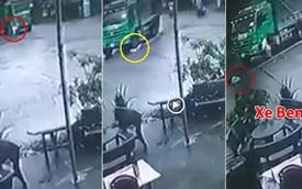 Clip: Cán trúng bé gái đi xe đạp, tài xế lùi xe ben, hốt hoảng nhảy xuống