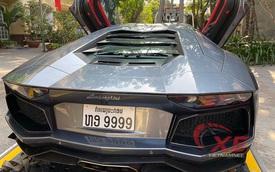 Phát đạt ở Lào, đại gia Việt mang siêu xe Lamborghini Aventador về quê ăn Tết