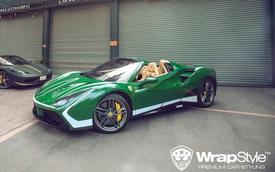 Ferrari 488 Spider thuộc sở hữu của đại gia Bình Phước đổi màu cực lạ