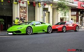 Dần kín tiếng trong giới chơi siêu xe, Phan Thành bất ngờ mang Lamborghini Huracan màu hiếm chơi Tết cùng đại gia đi Ferrari 488 GTB với tiểu sử đặc biệt