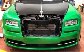 Rolls-Royce Wraith của đại gia Bạc Liêu đổi màu sơn cực độc để chơi Tết