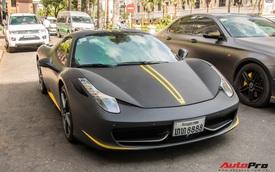 Ferrari 458 Spider biển tứ quý Lào bất ngờ xuất hiện trên phố Sài Gòn với diện mạo mới