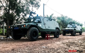 Dàn xe chuyên dụng hùng hậu trong chiến dịch vây ráp nghi phạm giết 5 người tại Củ Chi