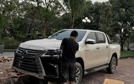 Dân chơi Hà Tĩnh lột xác Toyota Hilux thành bán tải 'Lexus LX 570' có một không hai tại Việt Nam
