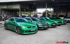 Cường 'Đô-la' cùng trưởng đoàn Car Passion hội ngộ dàn siêu xe khủng của đại gia Bình Phước