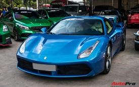 Cận cảnh Ferrari 488 Spider màu xanh dương độc nhất Việt Nam của đại gia Bình Phước