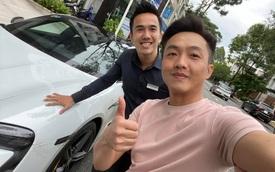 Nguyễn Quốc Cường tăng tốc Porsche Taycan gần 10 tỷ trong tích tắc khiến người trong xe giật mình