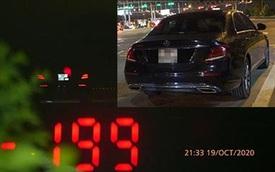 Tài xế Mercedes phóng 199km/h trên cao tốc