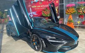 Doanh nhân kinh doanh hoa lan đột biến thay áo cho McLaren 720S Spider theo phong cách Tron Legacy độc nhất Việt Nam
