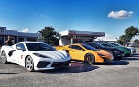 Dân chơi Cần Thơ mang dàn siêu xe, xe thể thao khủng đi offline, có sự góp mặt của Chevrolet Corvette C8 vừa về tay chủ nhân