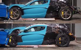 Đây là cách người ta 'hành hạ' siêu xe Rimac triệu USD để xem độ nát sau tai nạn