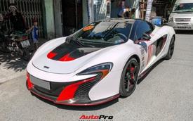 Chồng Diệp Lâm Anh, em họ Xemesis, đổi màu McLaren 650S Spider theo phong cách xe đua