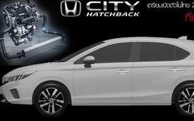 Honda City Hatchback lộ thông số đầu tiên trước giờ G: Ba phiên bản, động cơ, trang bị đáng giá