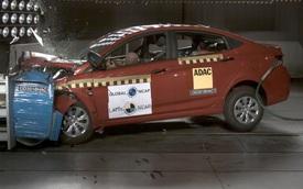 Hyundai Accent được 0 điểm an toàn khi không có túi khí
