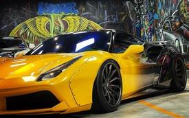 Vừa tậu xe, doanh nhân kinh doanh online liền đổi màu chiếc Ferrari 488 GTB độ Liberty Walk độc nhất Việt Nam