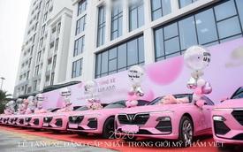 """Góc chịu chi: Một công ty bỏ hẳn 10 tỷ """"tậu"""" 10 chiếc xe VinFast màu hồng rực rỡ làm quà cho nhân viên cuối năm"""