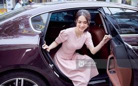 Hương Giang đi siêu xe 8 tỷ Matt Liu tặng và đeo nhẫn kim cương khủng dự sự kiện, thần sắc gây chú ý hậu drama với antifan